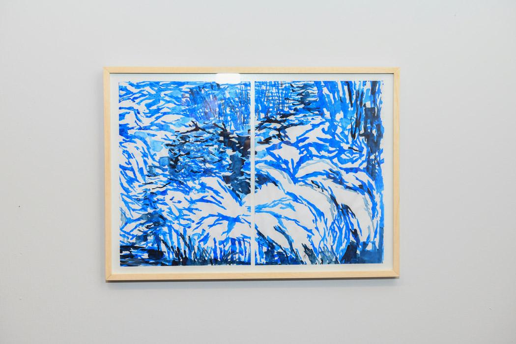 Trastienda | Adriana Ravenna - Técnica: Acrílico sobre papel | Medidas: Díptico | Año: 2018