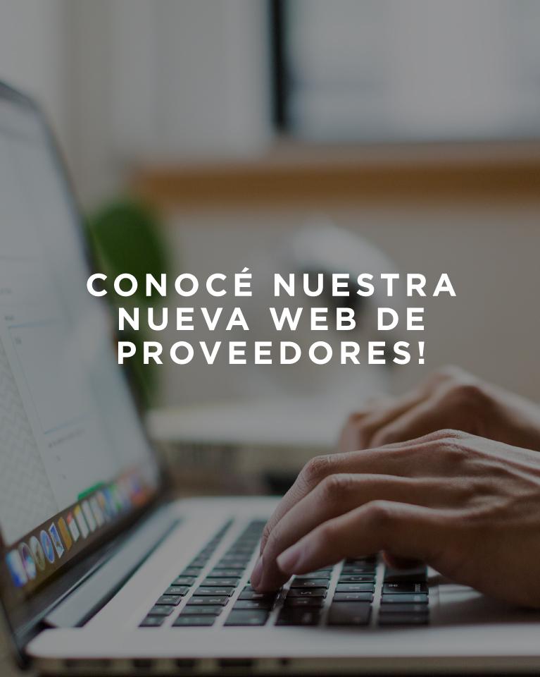 Nueva Web de Proveedores